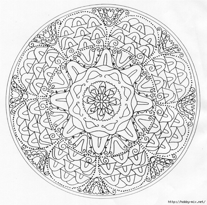 Схема для росписи тарелки
