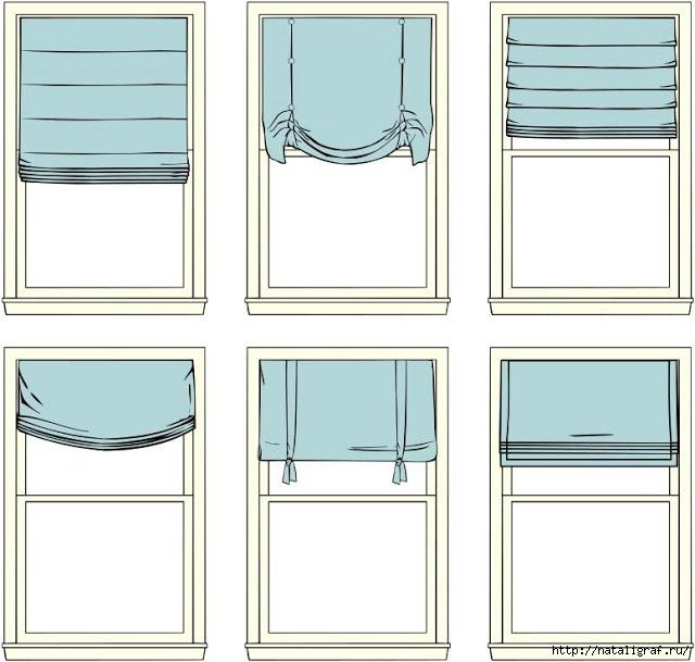 Крепим штору на окно