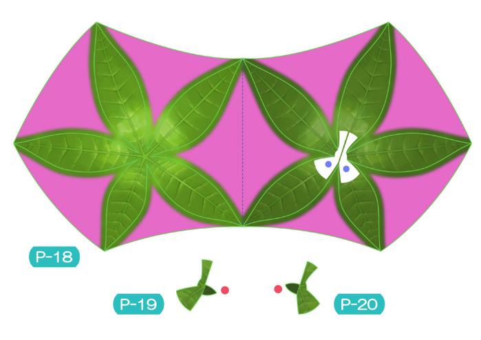 Пахира (Pachira) из бумаги. Цветные шаблоны для распечатки (2) (700x495, 226Kb)