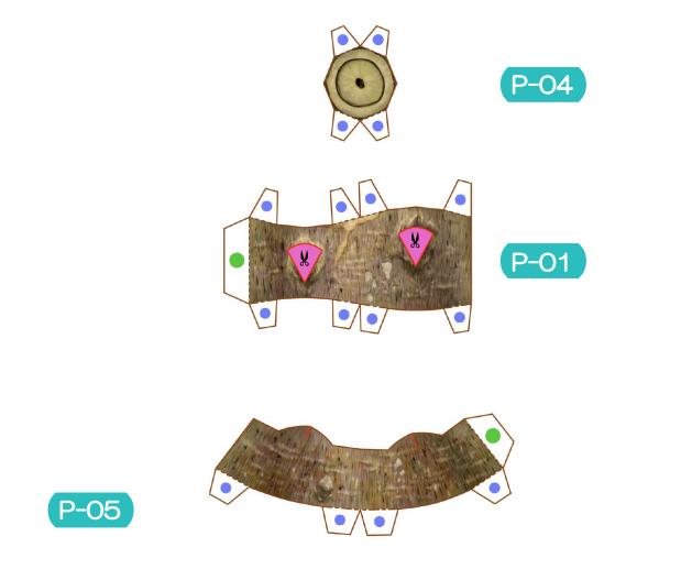 Пахира (Pachira) из бумаги. Цветные шаблоны для распечатки (6) (619x517, 141Kb)