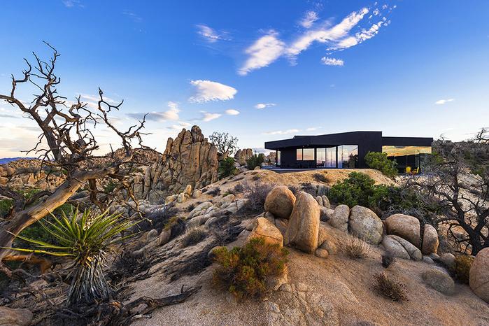 современный дом в пустыне фото (700x466, 510Kb)