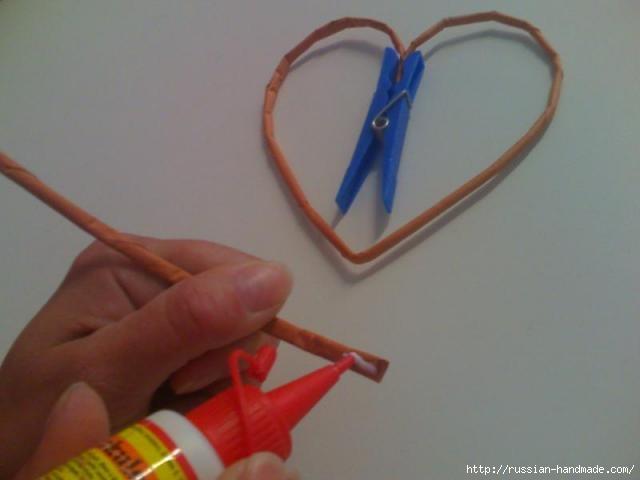 Объемное сердце из газетных трубочек и проволоки. Мастер-класс (6) (640x480, 67Kb)