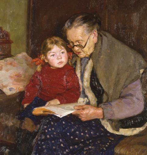 Баб.Белов Ю.В. Бабушка и внучка. 1958 г. (483x509, 223Kb)