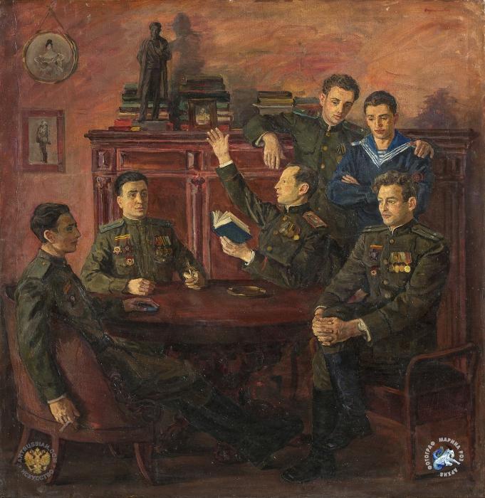 Потомки А.С.Пушкина - участники ВОВ (681x700, 433Kb)