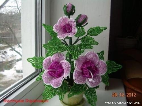 Бисероплетение схемы цветов, которые включены в мастер классы, покажут, как сделать цветы из бисера - букет.