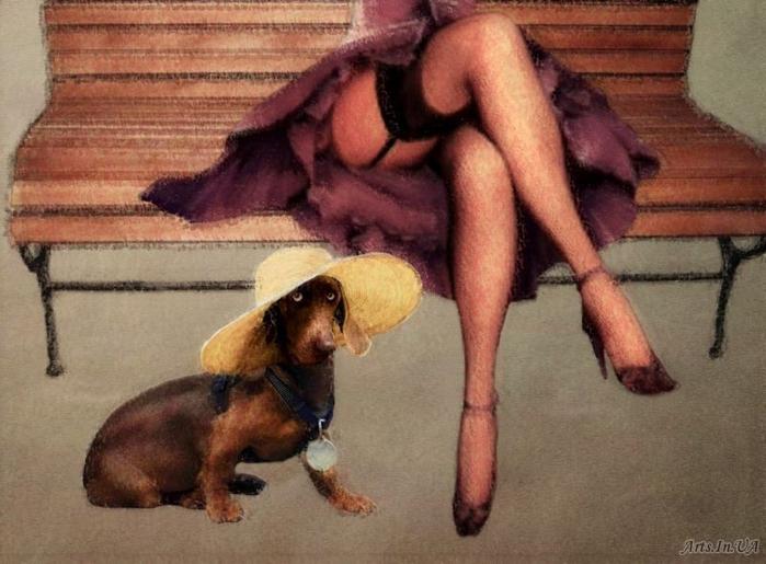дама с собачкой (700x515, 331Kb)
