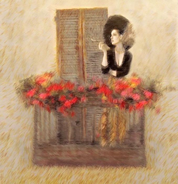 портрет на балконе (678x700, 453Kb)
