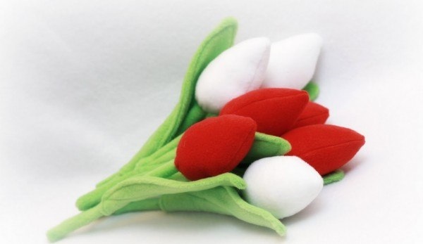 Цветы своими руками из ткани тюльпан