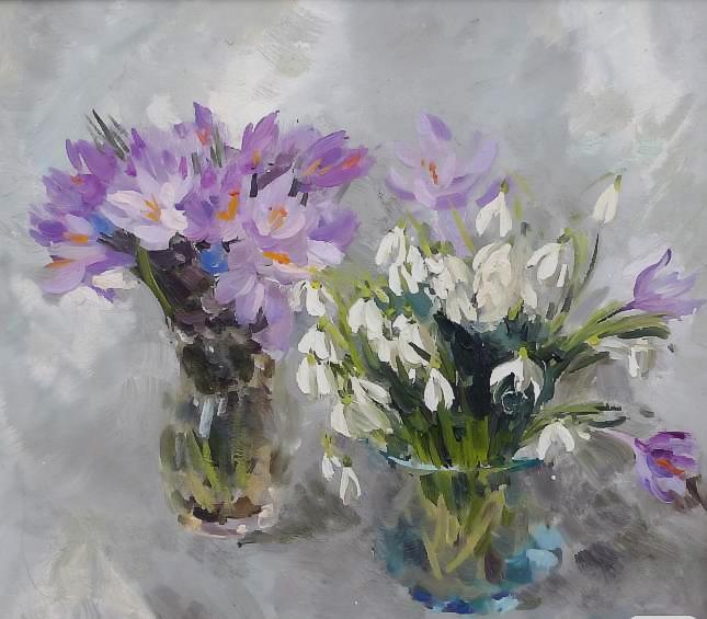 пролетни цветя Литовченко Борис (645x565, 96Kb)