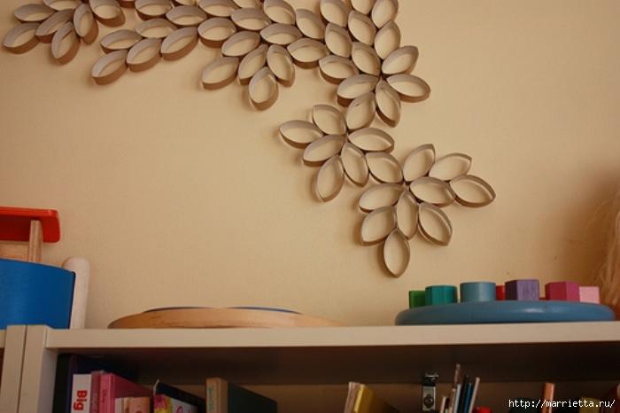 Украсить поделками своими руками стены