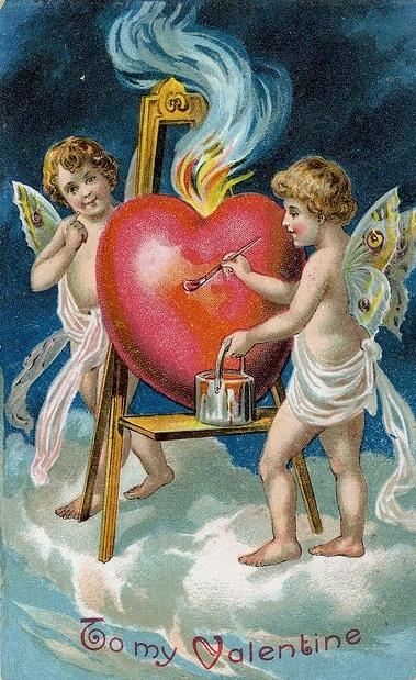 Винтажные картинки ко дню Святого Валентина (14) (379x619, 282Kb)