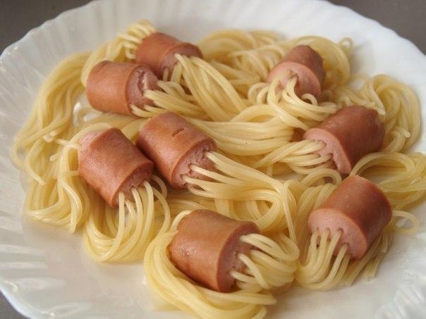 Как сделать подливу для макарон с сосисками