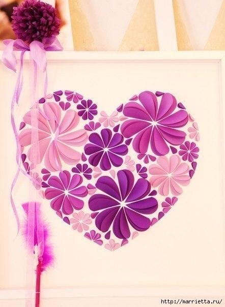 сердечные панно из бумаги (8) (442x604, 134Kb)