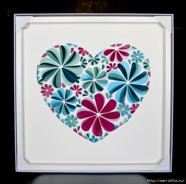 сердечные панно из бумаги (13) (604x597, 144Kb)