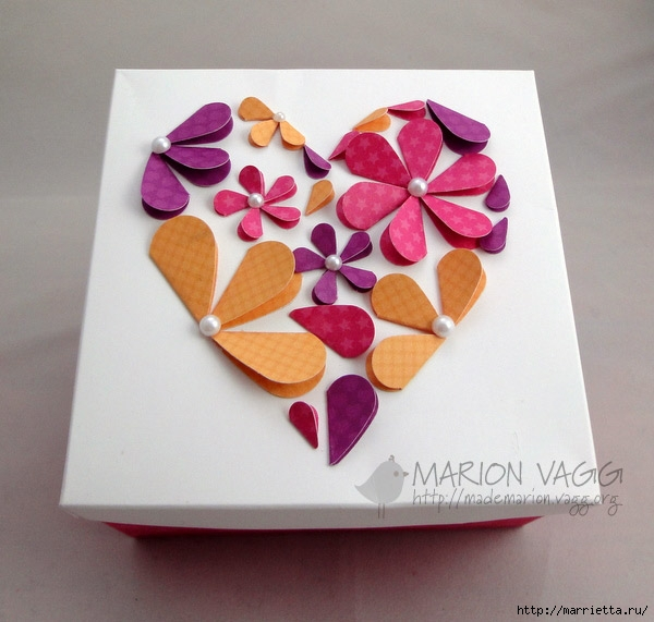 сердечные панно из бумаги (19) (600x571, 179Kb)