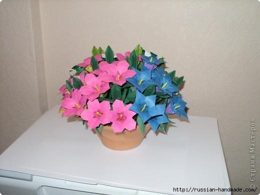 весенний букет цветов в технике оригами (1) (520x390, 96Kb)