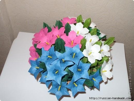 весенний букет цветов в технике оригами (3) (520x390, 122Kb)