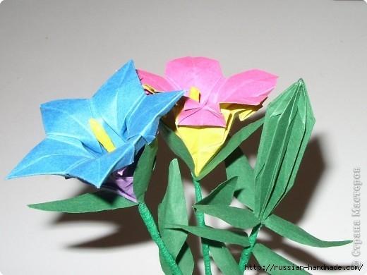 весенний букет цветов в технике оригами (5) (520x390, 105Kb)