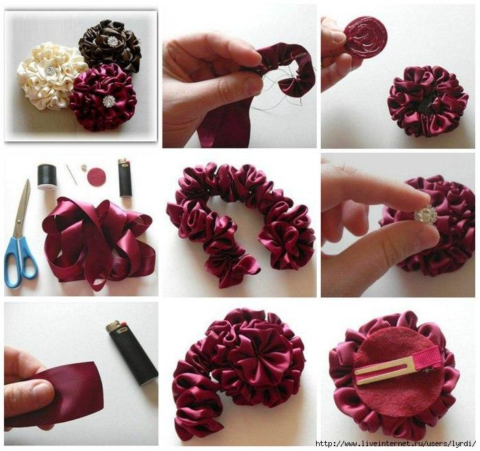 Как сделать красивые резиночки для волос