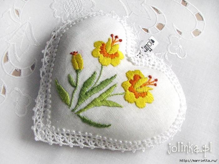 Текстильные сердечки. Большая коллекция очень красивых валентинок (4) (700x525, 262Kb)