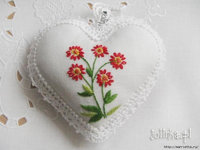 Текстильные сердечки. Большая коллекция очень красивых валентинок (6) (700x525, 216Kb)