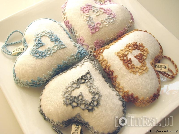 Текстильные сердечки. Большая коллекция очень красивых валентинок (18) (700x525, 266Kb)