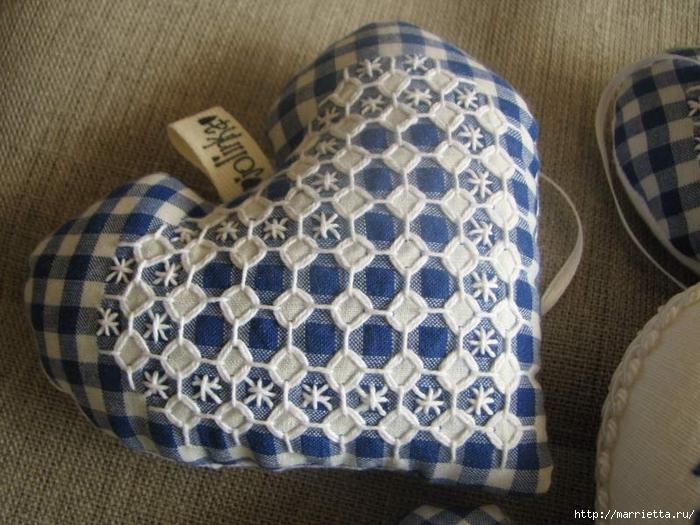 Текстильные сердечки. Большая коллекция очень красивых валентинок (27) (700x525, 303Kb)