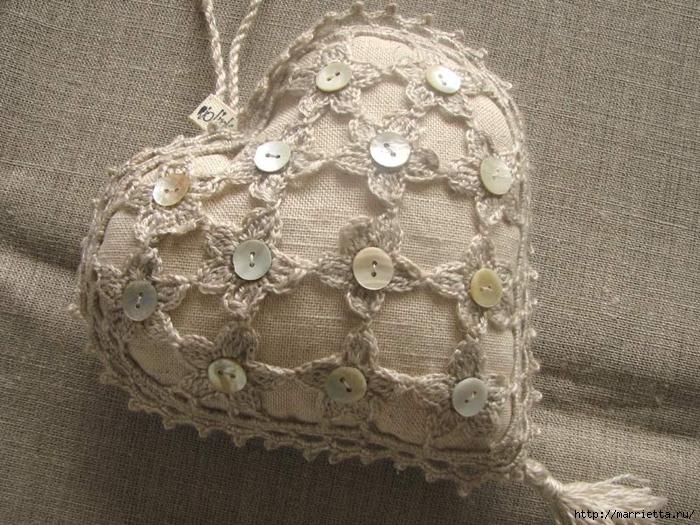 Текстильные сердечки. Большая коллекция очень красивых валентинок (30) (700x525, 343Kb)