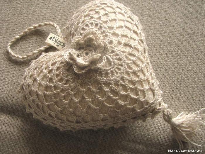 Текстильные сердечки. Большая коллекция очень красивых валентинок (33) (700x525, 339Kb)