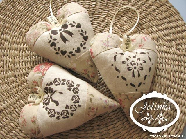 Текстильные сердечки. Большая коллекция очень красивых валентинок (35) (640x480, 239Kb)