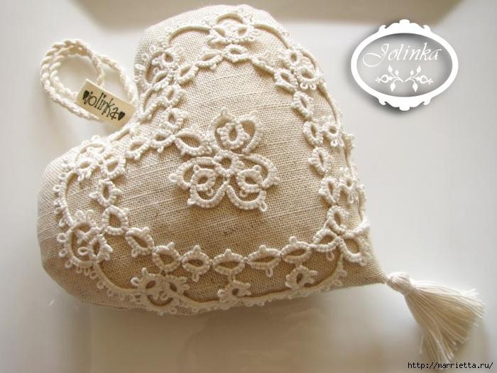 Текстильные сердечки. Большая коллекция очень красивых валентинок (37) (700x525, 231Kb)