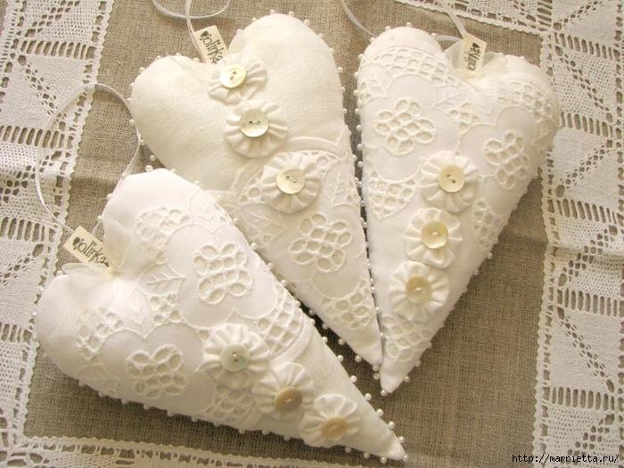 Текстильные сердечки. Большая коллекция очень красивых валентинок (50) (700x525, 306Kb)