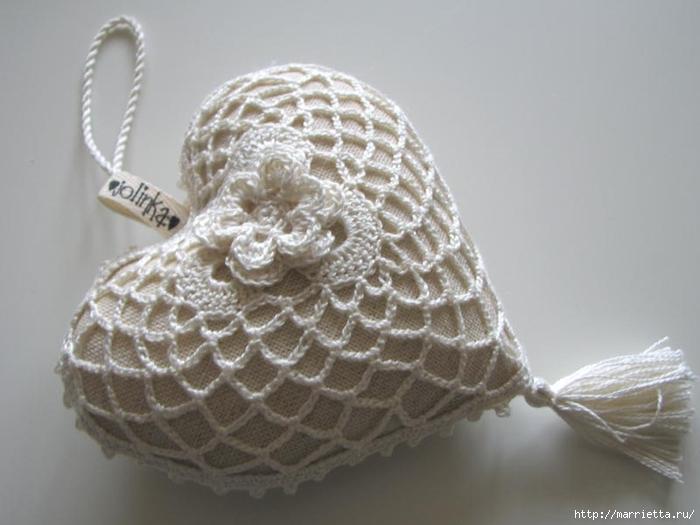 Текстильные сердечки. Большая коллекция очень красивых валентинок (60) (700x525, 178Kb)