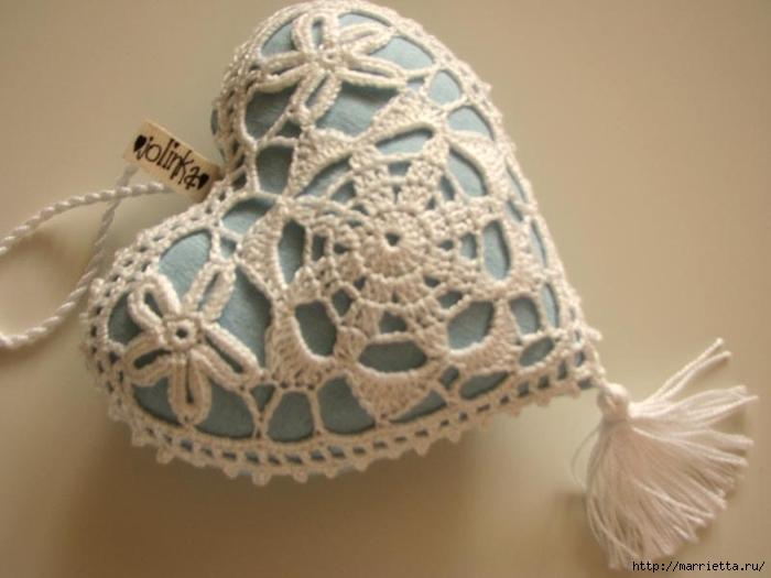 Текстильные сердечки. Большая коллекция очень красивых валентинок (66) (700x525, 176Kb)