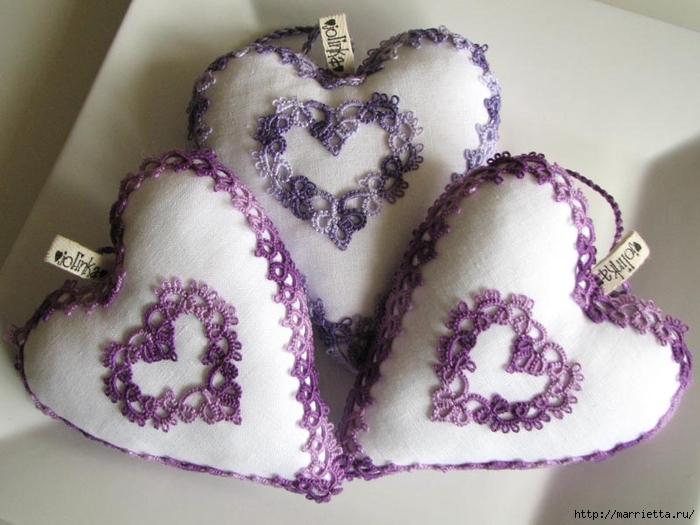 Текстильные сердечки. Большая коллекция очень красивых валентинок (70) (700x525, 246Kb)