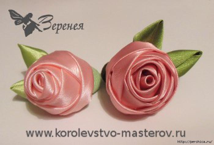 Роскошные розы из атласных лент красота своими руками