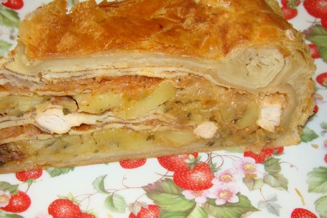 Курник с капустой и яйцом рецепт