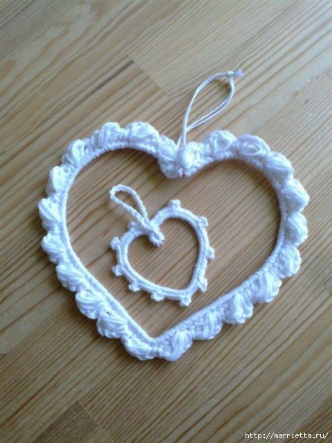 Сердечки из проволоки с обвязкой крючком (2) (480x640, 161Kb)