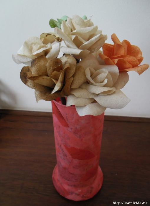 Розы из кофейных фильтров. Мастер-класс (21) (509x700, 200Kb)