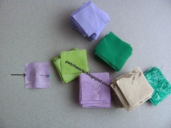 Пэчворк. Создание и сшивание шестиугольников для пледа. Мастер-класс (4) (600x450, 177Kb)