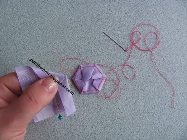 Пэчворк. Создание и сшивание шестиугольников для пледа. Мастер-класс (26) (600x450, 247Kb)