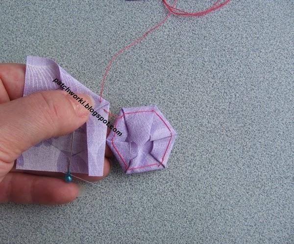 Пэчворк. Создание и сшивание шестиугольников для пледа. Мастер-класс (28) (600x497, 301Kb)