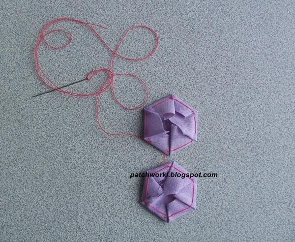 Пэчворк. Создание и сшивание шестиугольников для пледа. Мастер-класс (30) (600x492, 321Kb)