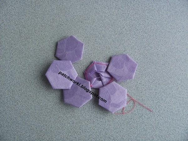 Пэчворк. Создание и сшивание шестиугольников для пледа. Мастер-класс (32) (600x450, 269Kb)
