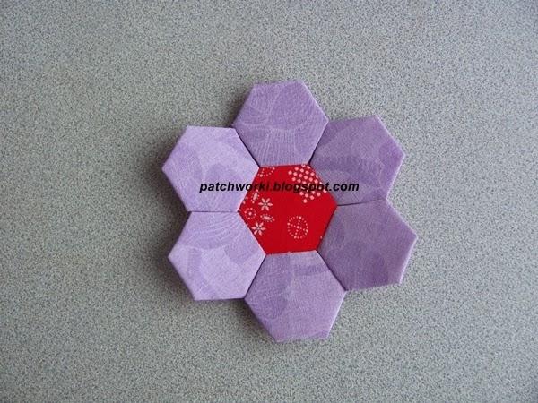 Пэчворк. Создание и сшивание шестиугольников для пледа. Мастер-класс (42) (600x450, 273Kb)