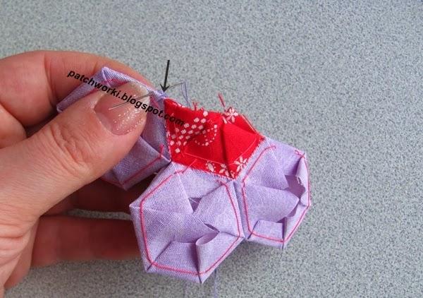 Пэчворк. Создание и сшивание шестиугольников для пледа. Мастер-класс (44) (600x422, 241Kb)