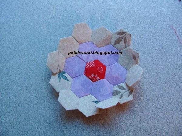 Пэчворк. Создание и сшивание шестиугольников для пледа. Мастер-класс (48) (600x450, 244Kb)