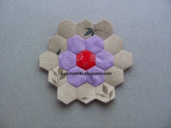 Пэчворк. Создание и сшивание шестиугольников для пледа. Мастер-класс (50) (600x450, 252Kb)