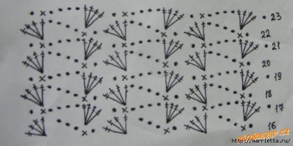 Вязание крючком. Шляпка для девочки (4) (600x300, 74Kb)