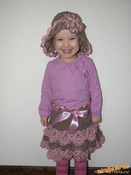 Вязание крючком. Шляпка для девочки (9) (450x600, 88Kb)